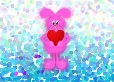 Happy Valentines day illustration with bunny royalty free illustration