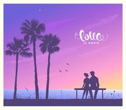 Lovers sunset Royalty Free Stock Photos