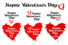 Happy Valentines day illustrations and typography elements lettering Stock Photography