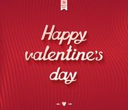 Happy valentines day inscription postcard design Stock Photos