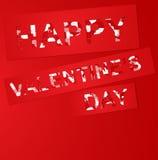 Happy Valentines Day invitation template. card design illustrati Stock Photo
