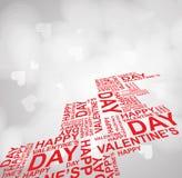 Happy Valentines Day invitation template. card design illustrati Stock Image