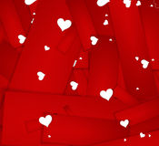 Happy Valentines Day invitation template. card design illustrati Stock Photos