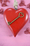 Happy Valentines Day key to my heart concept Royalty Free Stock Image