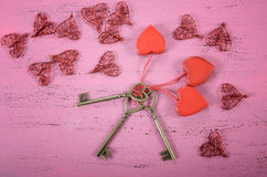 Happy Valentines Day key to my heart concept Stock Photography