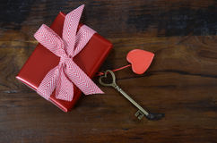 Happy Valentines Day key to my heart concept Royalty Free Stock Images