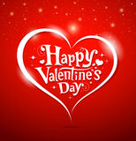 Happy Valentines Day lettering Stock Photos