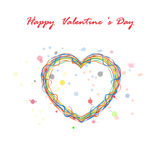 Happy Valentines day lettering background.2016 Happy Valentine's. Happy Valentines day lettering background. Typographic background with ornaments, hearts. 2016 Stock Photo