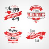 Happy Valentines Day Lettering Card. Typographic Royalty Free Stock Images
