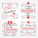 Happy Valentines Day Lettering Cards Royalty Free Stock Photography