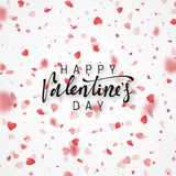 Happy Valentines Day lettering greeting card. Royalty Free Stock Images