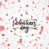 Happy Valentines Day lettering greeting card. Stock Photography