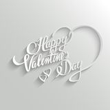 Happy Valentines Day lettering Greeting Card Stock Photo