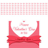 Happy Valentines Day Lettering Greeting Card. Illustration Stock Photography