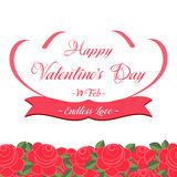 Happy Valentines Day Lettering Greeting Card. Illustration Stock Photos