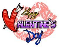 Happy Valentines Day logo Stock Photography