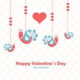 Happy valentines day. Love birds. Illustration. Vector Stock Photography