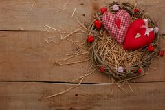 Happy Valentines Day love celebration in a rustic style . stock image
