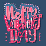 Happy valentines day love concept hand lettering motivation post Stock Image
