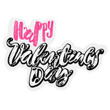 Happy valentines day love concept hand lettering motivation post Royalty Free Stock Photo