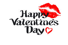 Happy Valentines day love heart red pink kiss Stock Photos