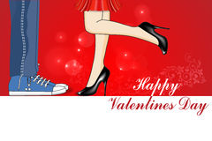 Happy Valentines Day, love, kiss, valentines day card Royalty Free Stock Images