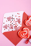 Happy Valentines Day Love Letter Envelope Royalty Free Stock Photography