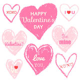 Happy valentines day love message Royalty Free Stock Images