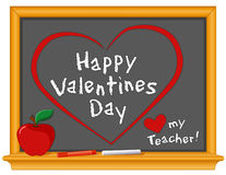 Happy Valentines Day, Love My Teacher Royalty Free Stock Image