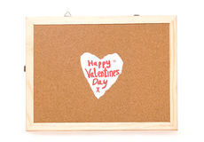 Happy Valentines day love note Royalty Free Stock Images