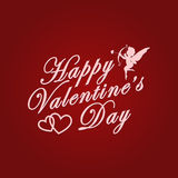Happy Valentines Day. Love poster Stock Image