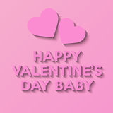 Happy Valentines Day. Love poster Stock Images