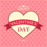 Happy Valentines Day. Love poster Royalty Free Stock Photo