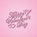Happy Valentines Day. Love poster Royalty Free Stock Image
