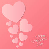 Happy Valentines Day. Love poster Stock Photography