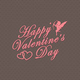 Happy Valentines Day. Love poster Royalty Free Stock Photography