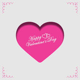 Happy Valentines day. Love poster,  design Royalty Free Stock Photography