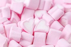 Happy Valentines day. Love theme. Pink sweet marshmallow hearts. Valentine`s day background. Happy Valentines day. Love theme. Pink sweet marshmallow hearts royalty free stock images