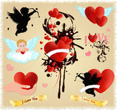Happy Valentines Day, Love vector set Stock Image