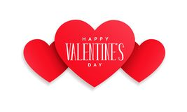 Happy Valentines Day. Message on hearts stock illustration
