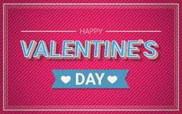 Happy Valentines Day Message, Vintage Greeting Card Design Stock Image