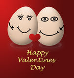 A happy valentines day my egg love red heart Royalty Free Stock Photos