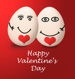 A happy valentines day my egg love red heart Stock Images