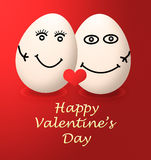 A happy valentines day my egg love red heart Stock Photos