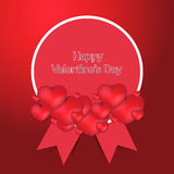 Happy valentines day new elegant card. This is a  valentines day card use any size Stock Image