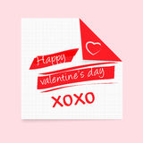 Happy Valentines Day notepad Royalty Free Stock Photos