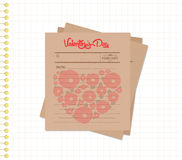 Happy valentines day notes retro Royalty Free Stock Photos
