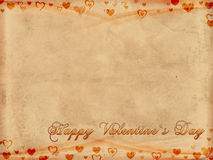 Happy valentines day on old paper Stock Photos