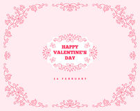 Happy Valentines Day Ornament Greeting Card vector illustration