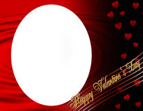 Happy Valentines Day oval frame Stock Images